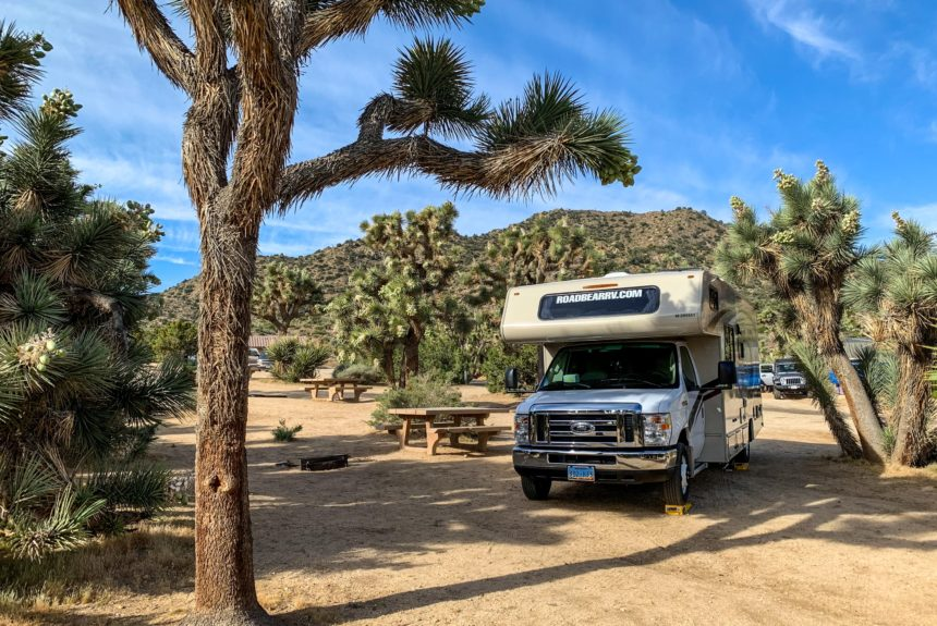 Oil and gas well pad converted into campground for southeast New Mexico visitors