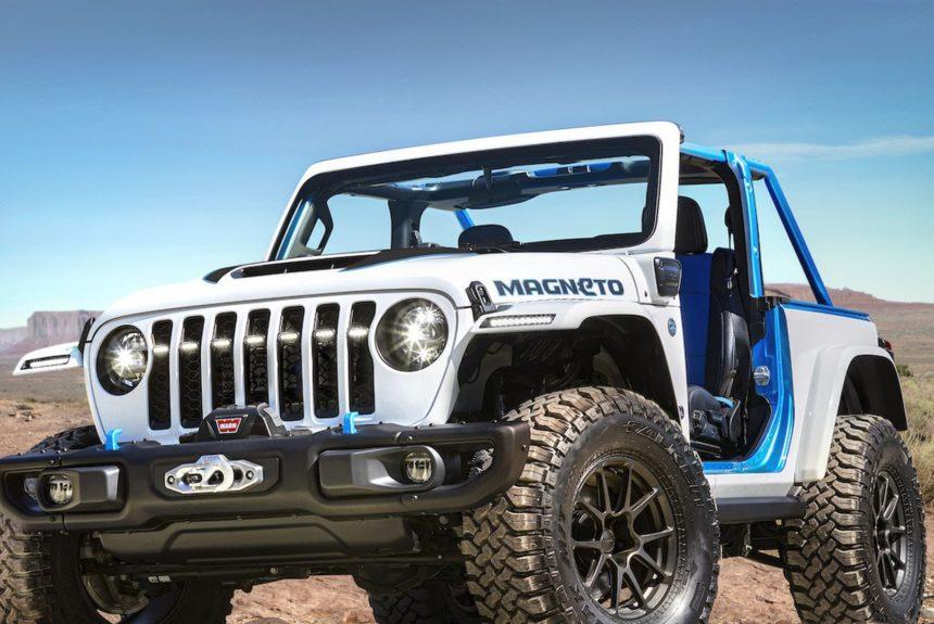 Jeep unveils a prototype electric Wrangler concept